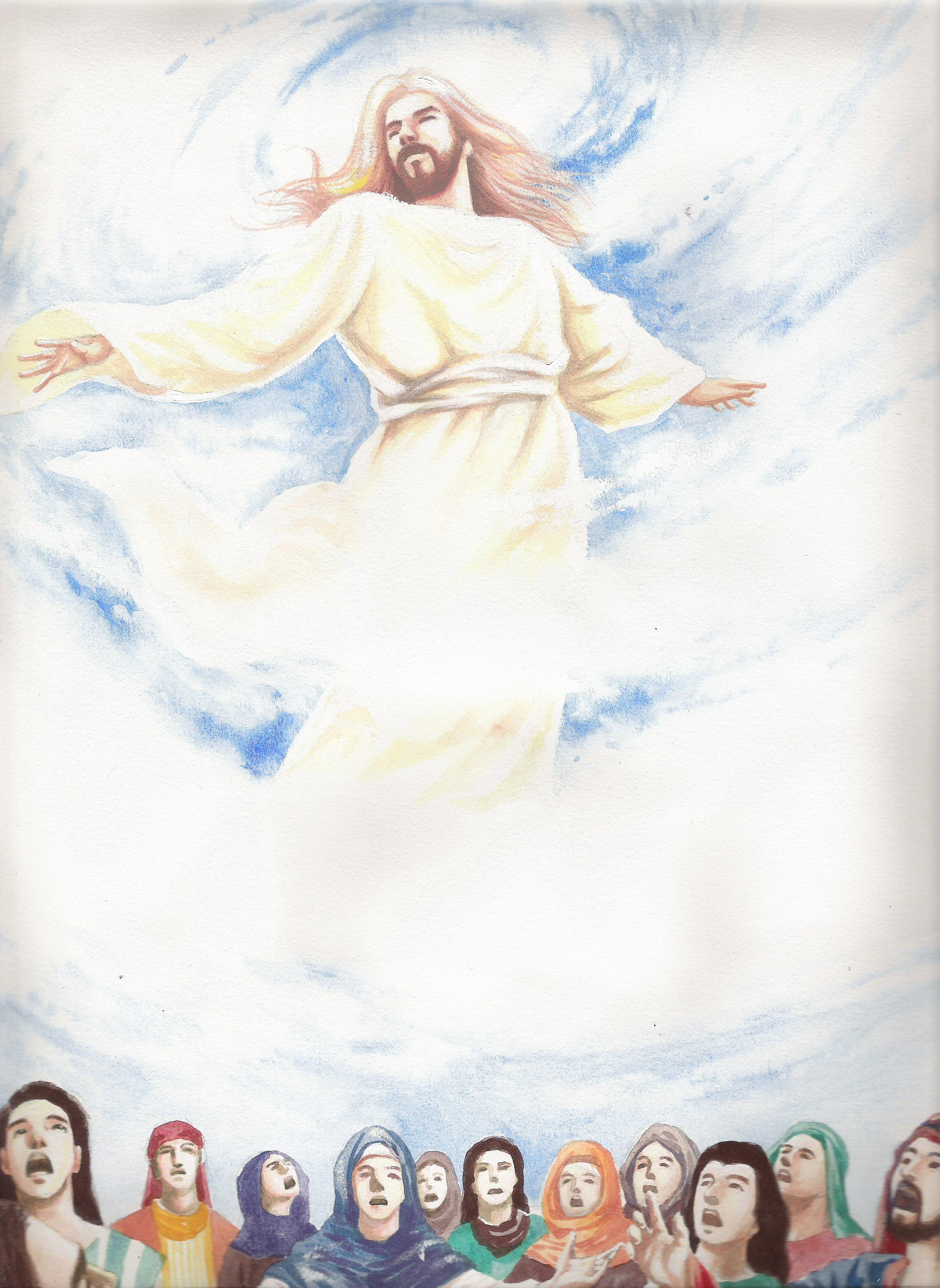 clipart of jesus ascending to heaven - photo #4
